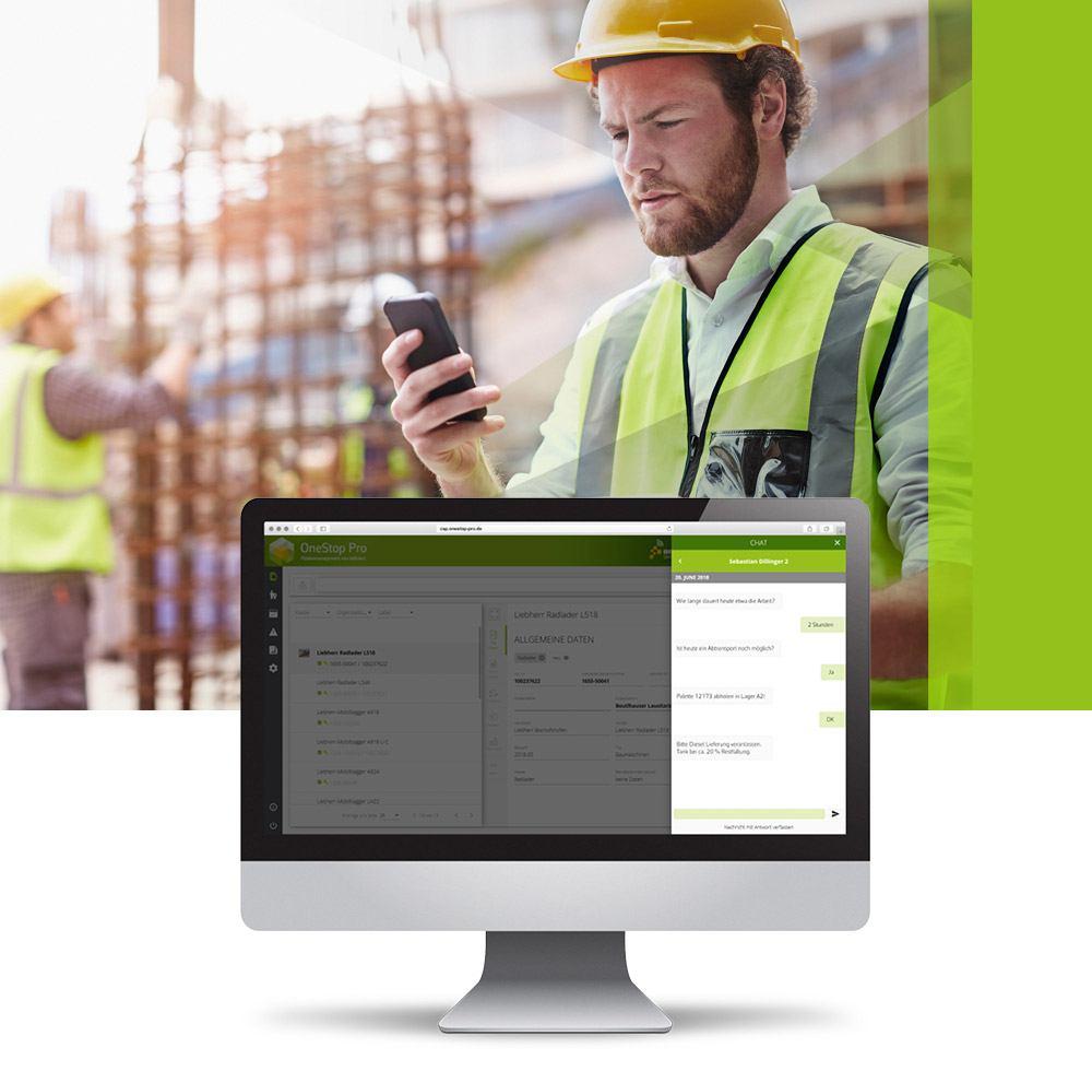 OneStop Pro Messenger Kommunikation für Flottenmanagement