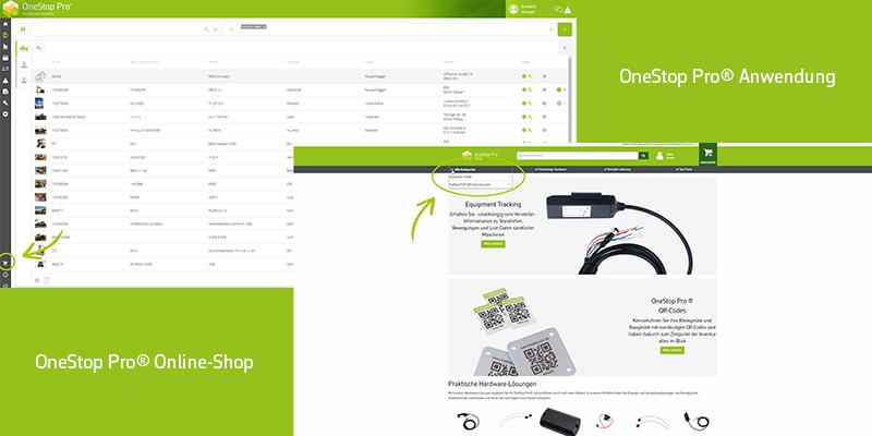 Neues Feature für OneStop Pro®-Nutzer: Unser Online-Shop