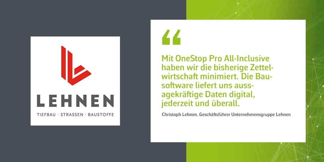 Einführung von OneStop Pro® All-Inclusive bei der Unternehmensgruppe Lehnen